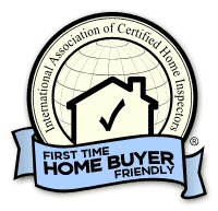 First time home buyer friendly certification badge.